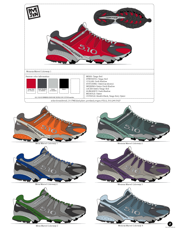 FiveTen  Approach Shoe color project.