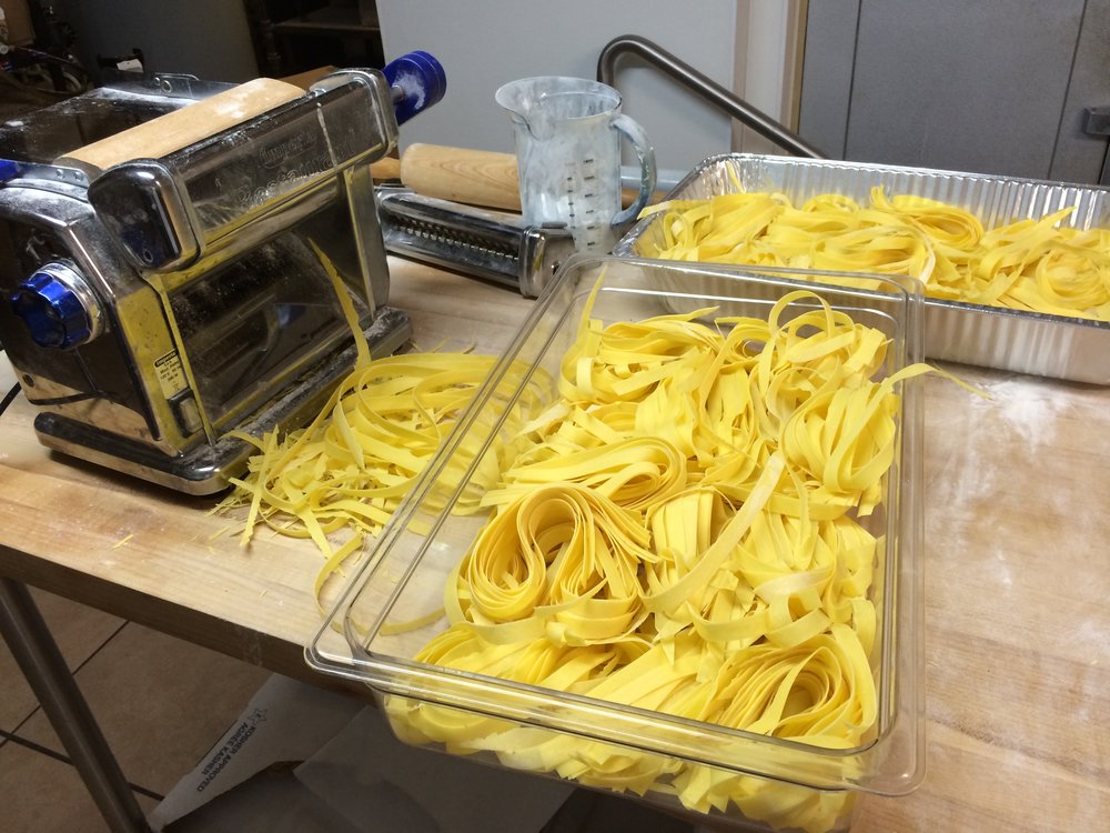 Co-Owner Ana Bleta makes all pasta daily by hand with techniques she learned during the 10 years she spent living with her family, including husband and Co-Owner Irtan Bleta.