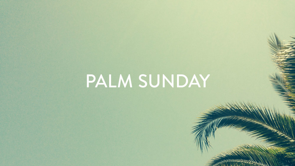 Join us for worship on Palm Sunday as we celebrate Jesus' triumphal entry into Jerusalem!