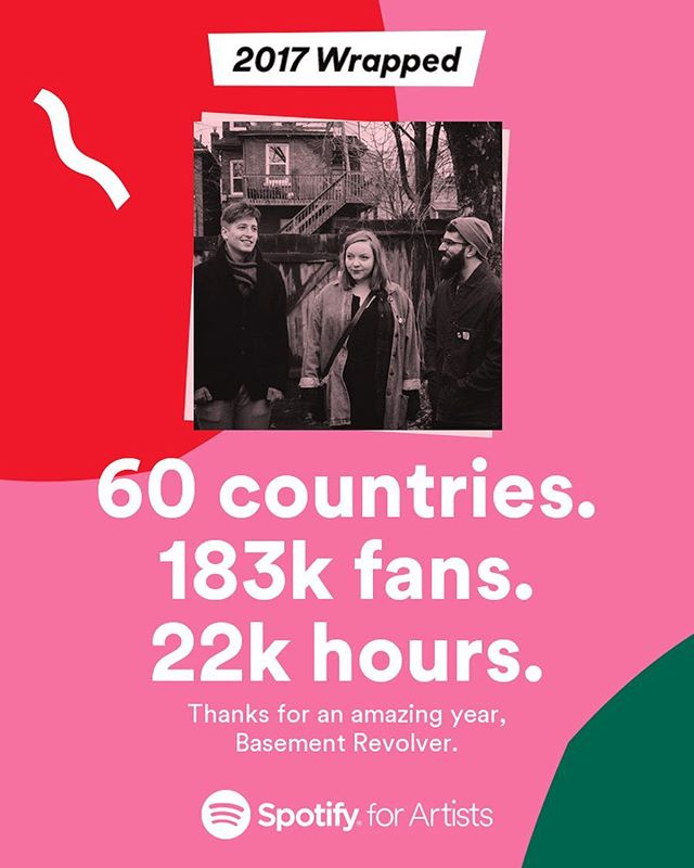 What a crazy crazy year! Thank you @spotify for being such a great outlet for us! Thank you everyone else for listening 👂