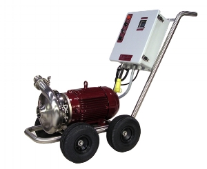 Waukesha 2065/10 Washdown Pump:   Tank Cleaning with High Water Pressure 0-80 gpm 80 psi