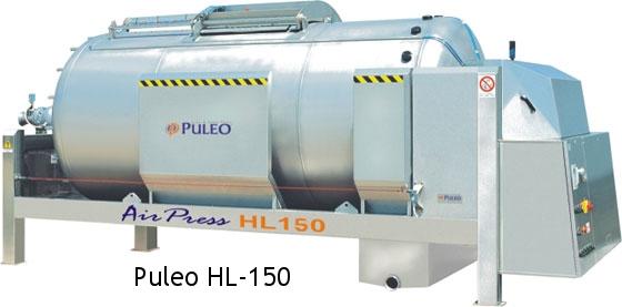 Puleo HL-150 closed Tank Membrane Press