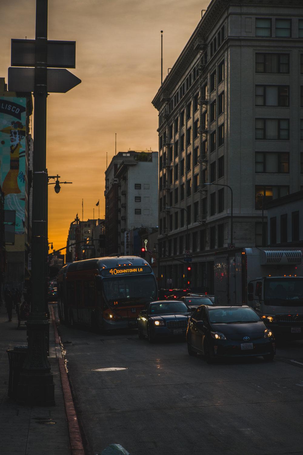 LA haze makes for a beautiful sunset