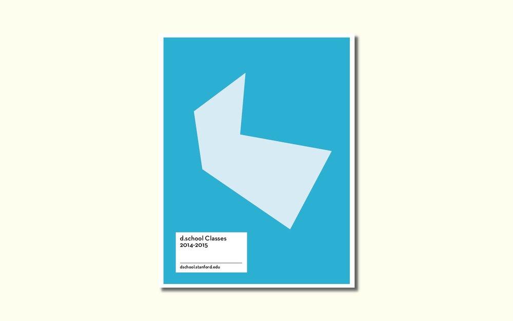 Final design for d.school Class Catalog, 2015