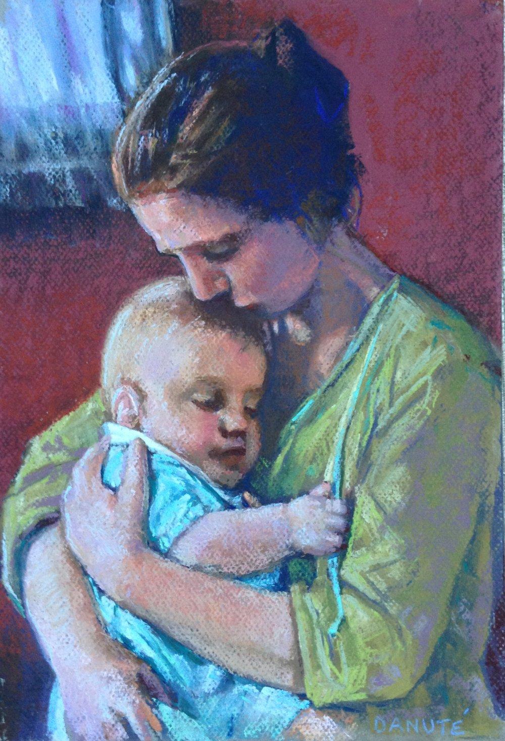 Oil pastel portrait commission