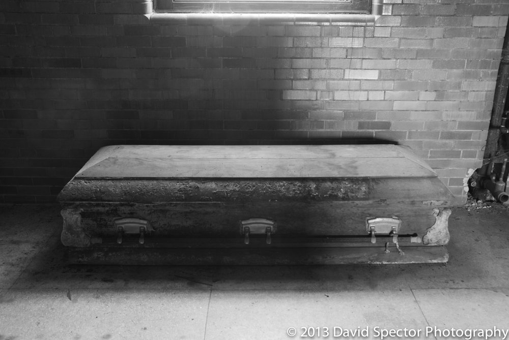 An old coffin.