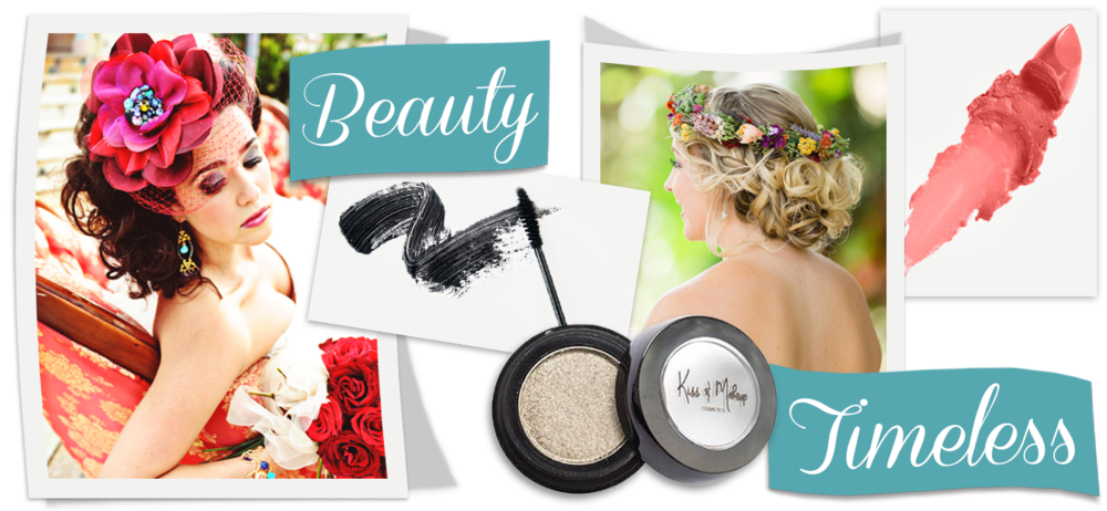 Banner image showing pictures of brides after hair and makeup.