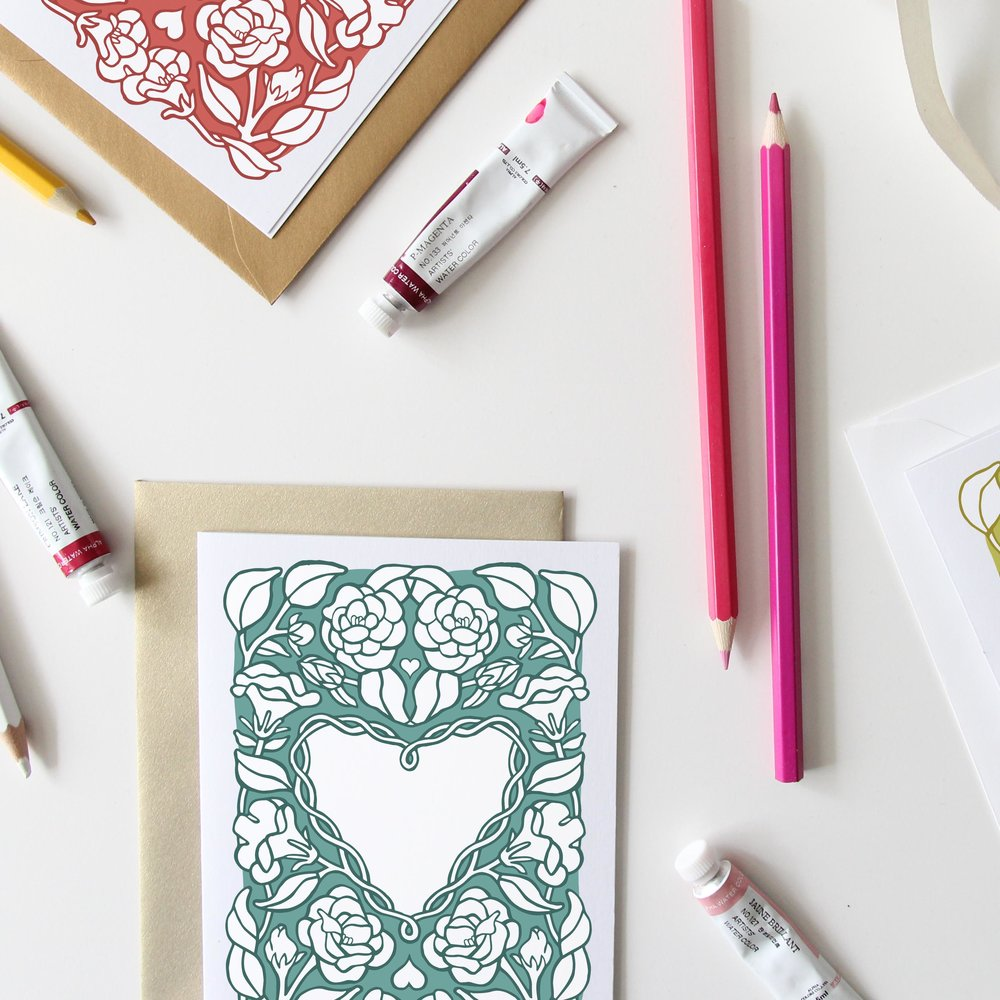 Free Printable Valentines Day Cards | Floral Valentines Printables | Valentines Freebies | Root & Branch Paper Co. Blog