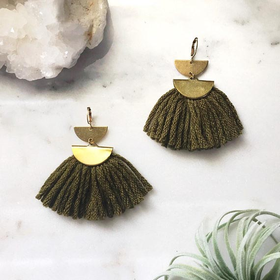 Melissa Jenkins Designs //  Fiber Fan Earrings