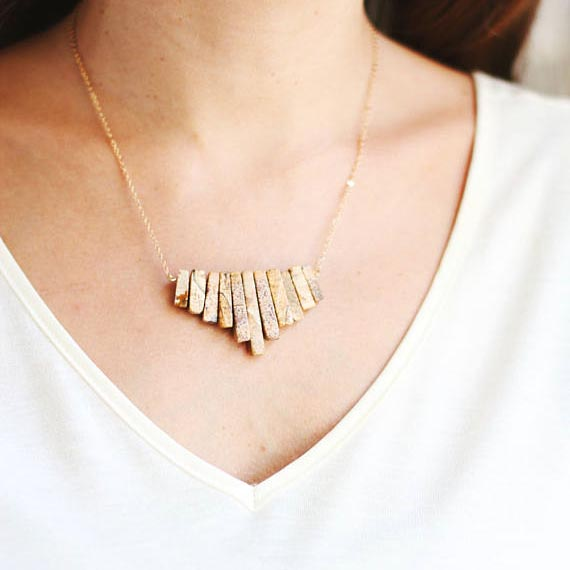 Shop Rare Bird //  Tribal Fringe Jasper Necklace