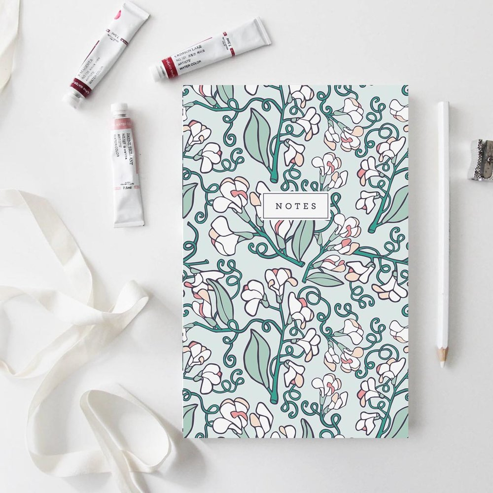 Root & Branch Paper Co. //  Wild Sweet Pea Notebook