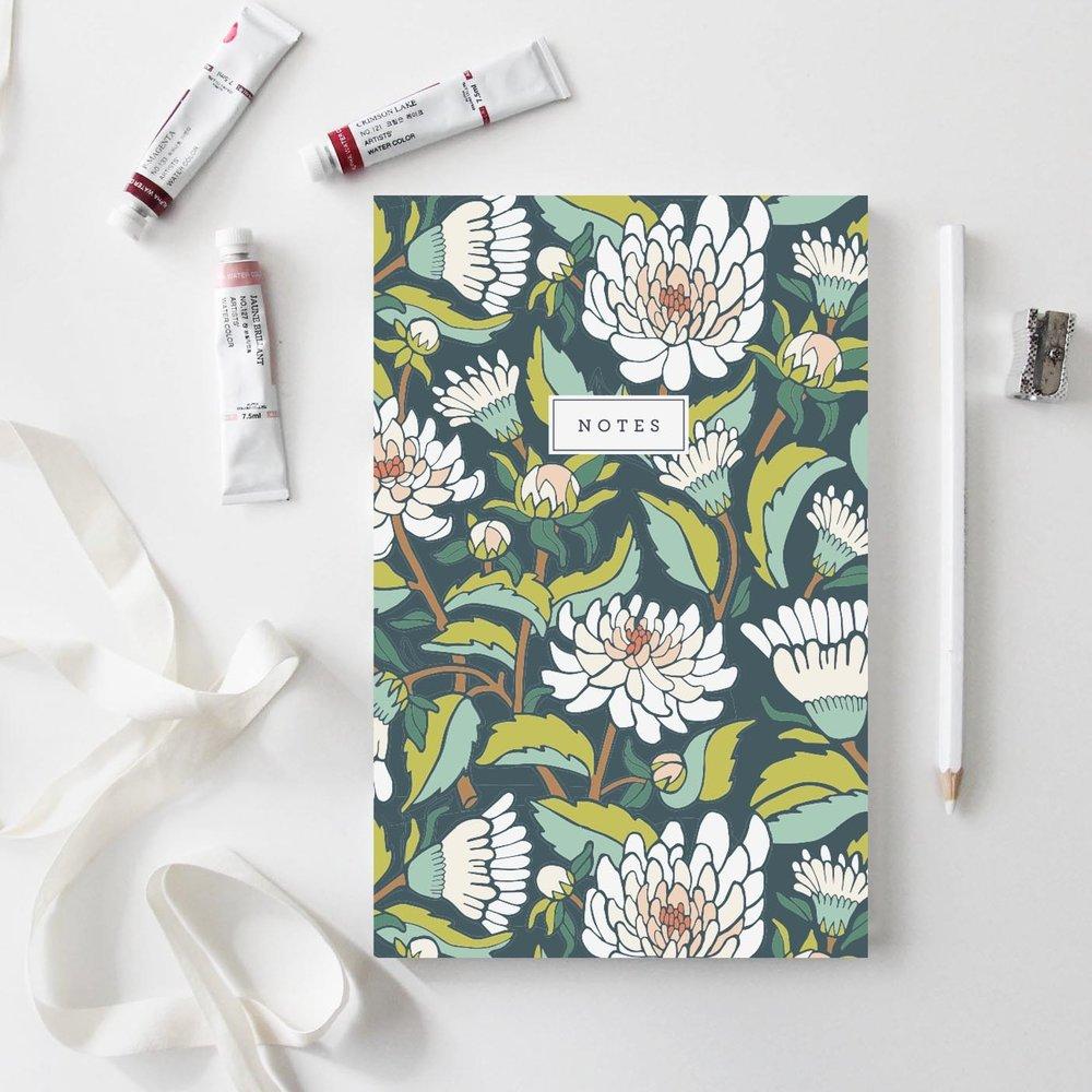 Dahlia Garden Notebook