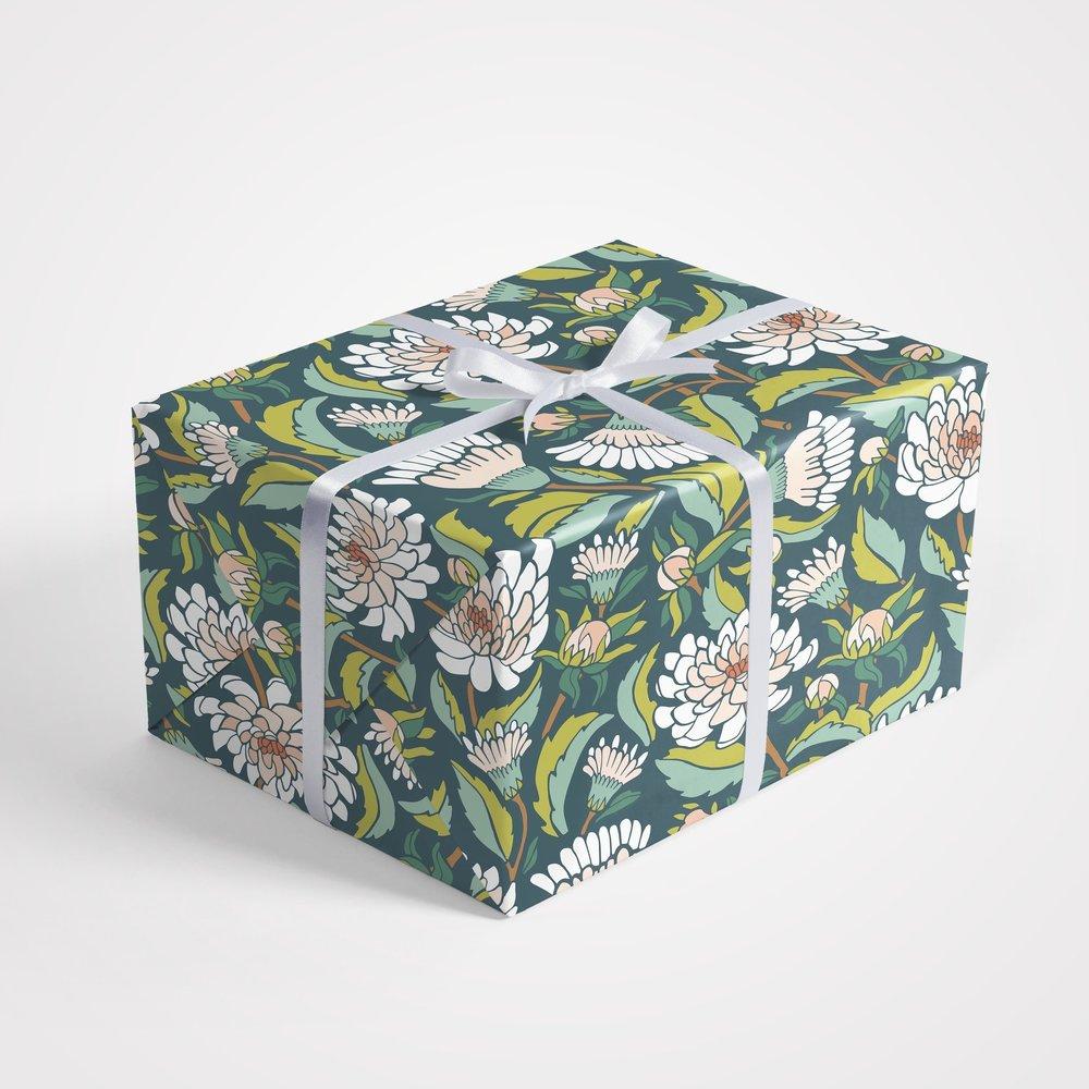 Dahlia Garden Gift Wrap Sheets