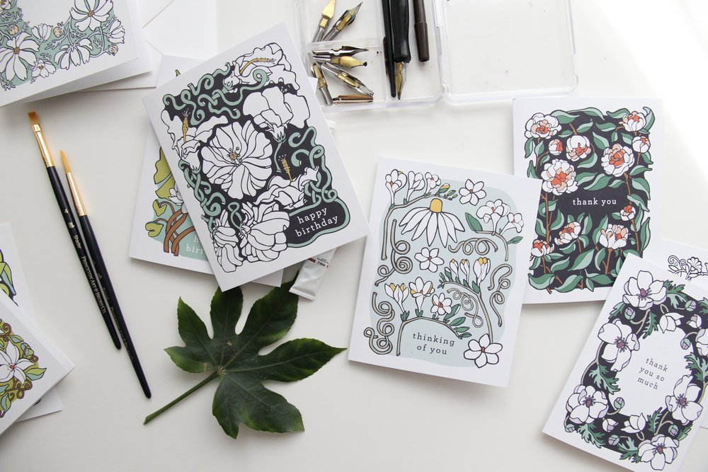 Behind the Scenes: Designing a Greeting Card Line | Stationery Business Tips, Designing Greeting Cards | from the Root & Branch Paper Co.