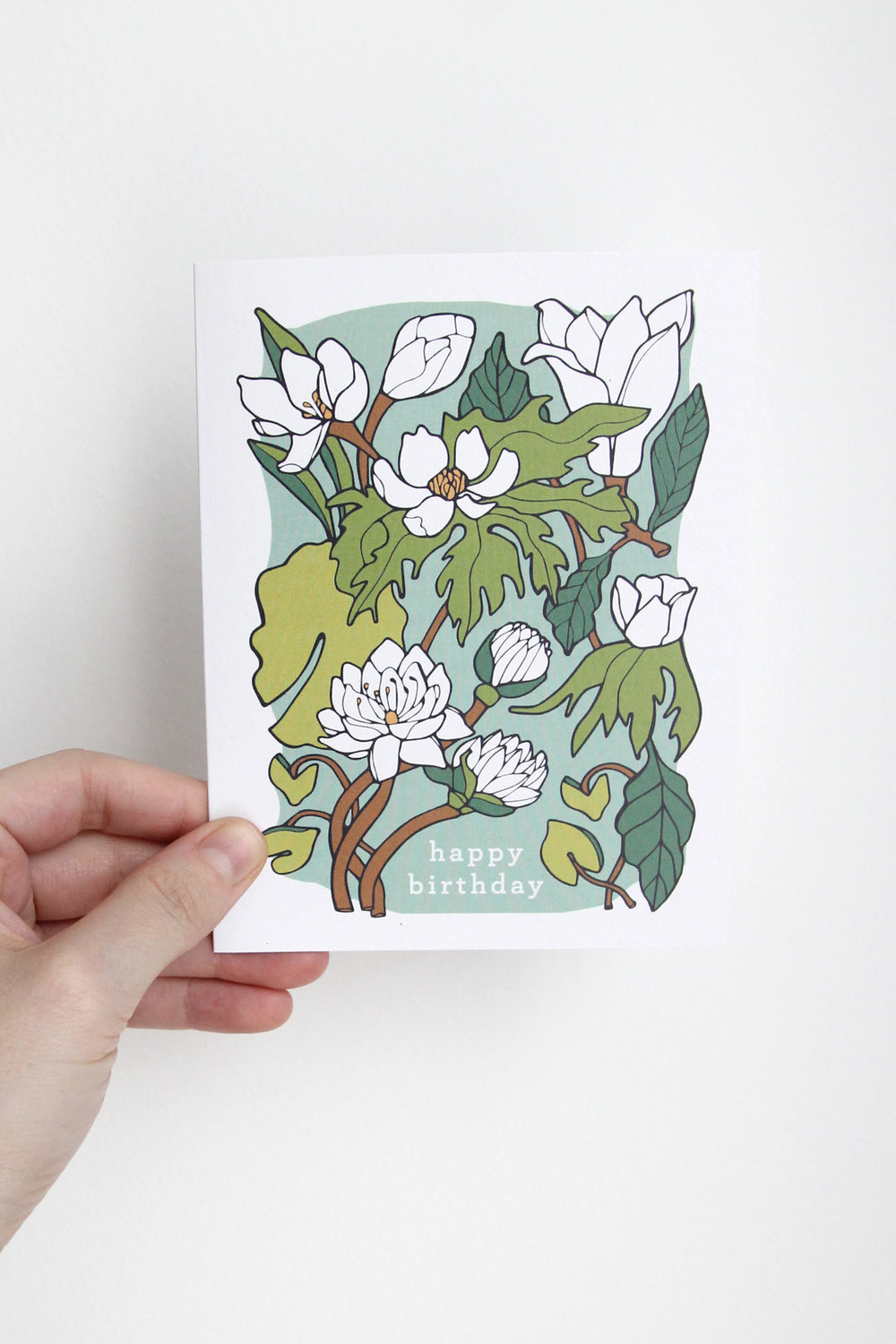 Happy Birthday Card - Water Lily & Lotus
