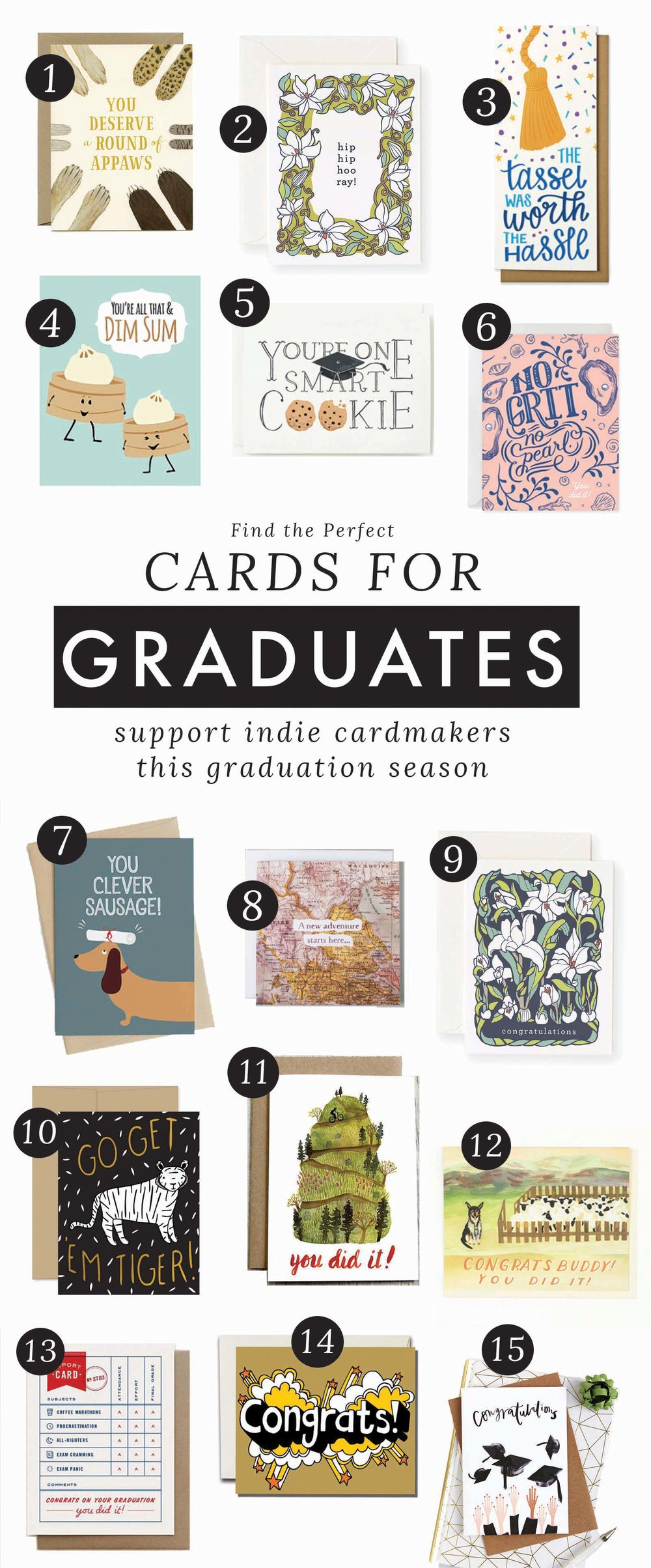 Find the Perfect Graduation Card | Graduation Card Ideas, Congrats Grad, Cards for Class of 2018 Graduates | from the Root & Branch Paper Co. Blog