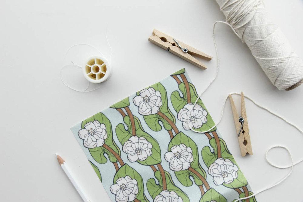 Our  Lotus Leaf  print