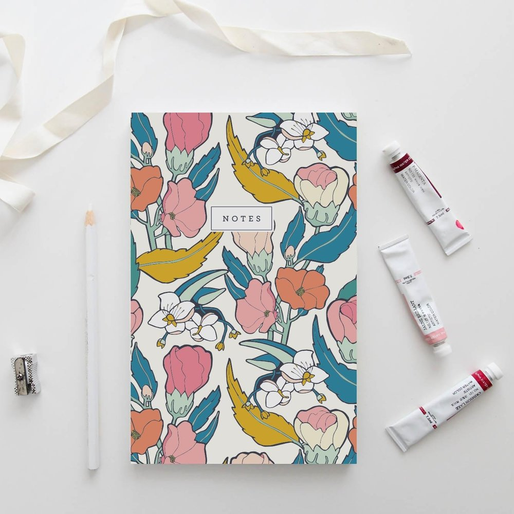 Flamenco Hibiscus Notebook