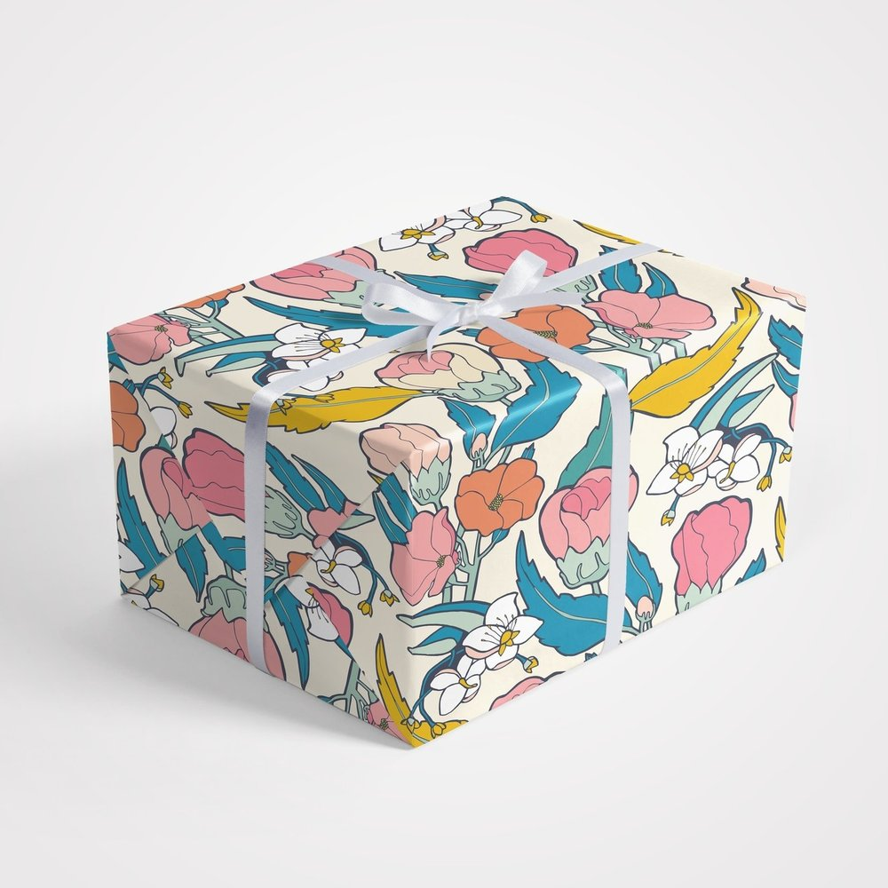 Flamenco Hibiscus Gift Wrap