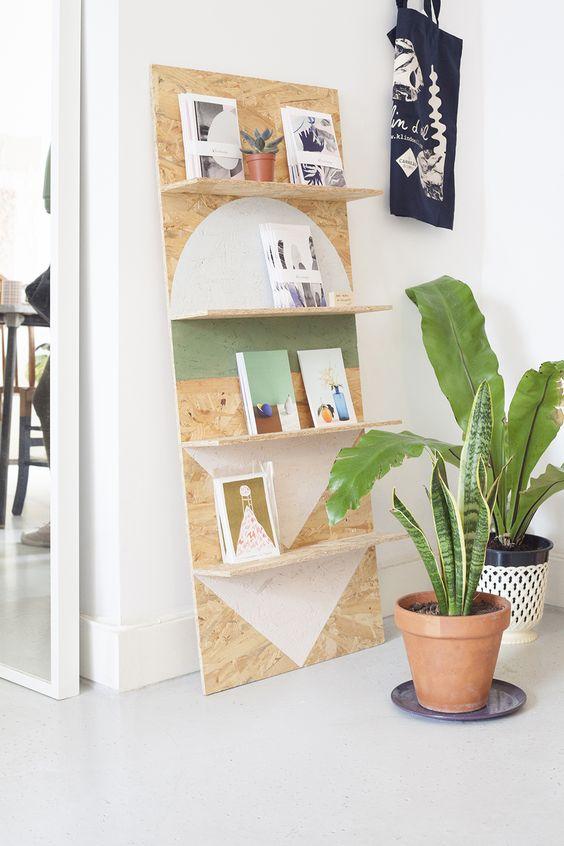Plywood Shelf Idea from Heju