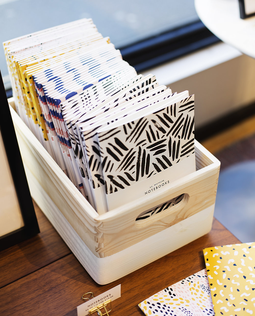 Notebook Display by The Lovely Drawer