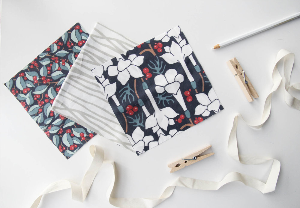 Three prints from this collection: Winter Berries, Woodland Branches, and Winter Nightshade 2. All available on  Spoonflower !