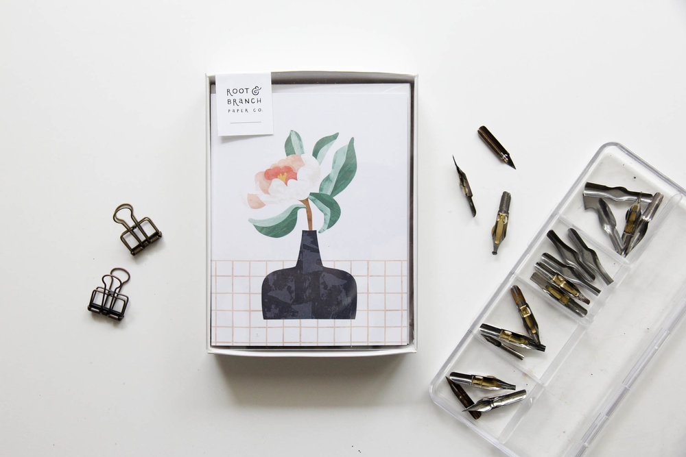 Coral Charm Boxed Card Set from Root & Branch Paper Co.