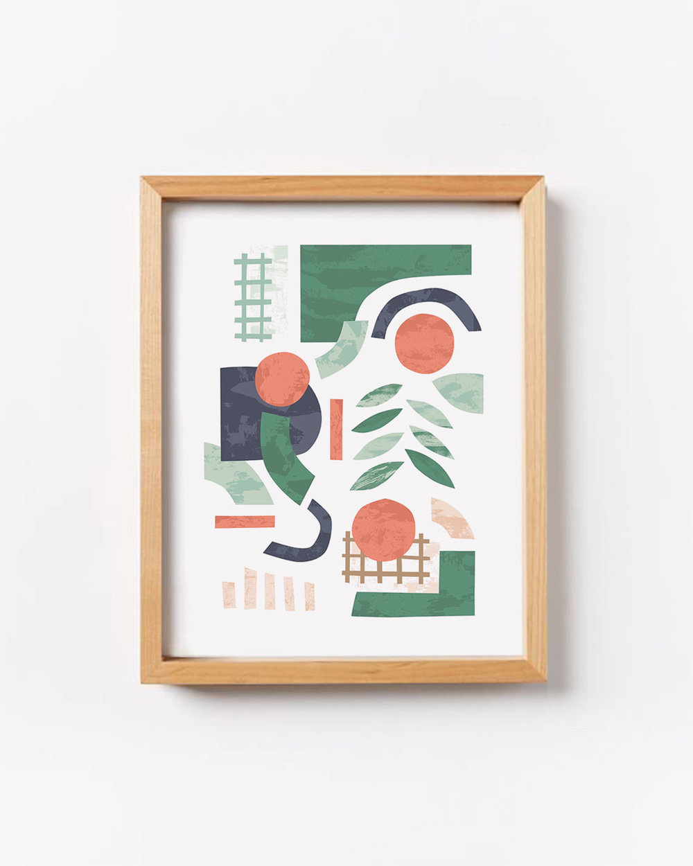 Shake it Up Abstract Art Print - A limited edition print featuring a bold and playful modern abstract illustration. Perfect for bringing a pop of color to your walls!
