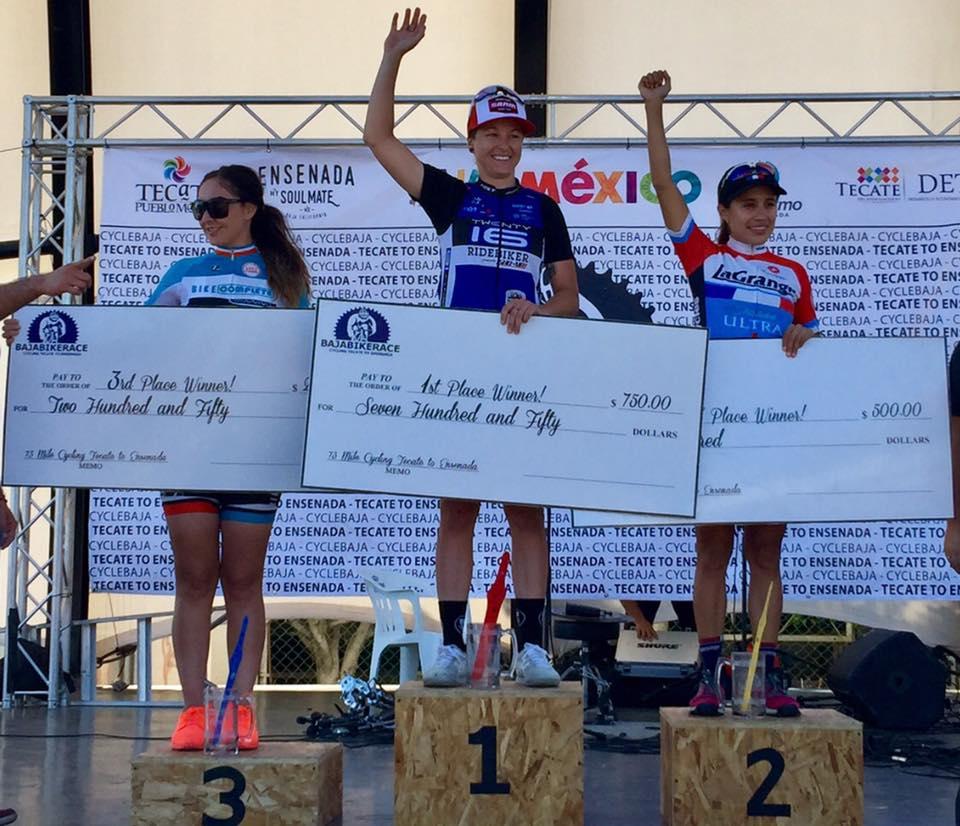 Lizbeth Urmas keeps cashing them checks! This time at the 73 mile Tecate-Ensenada race.