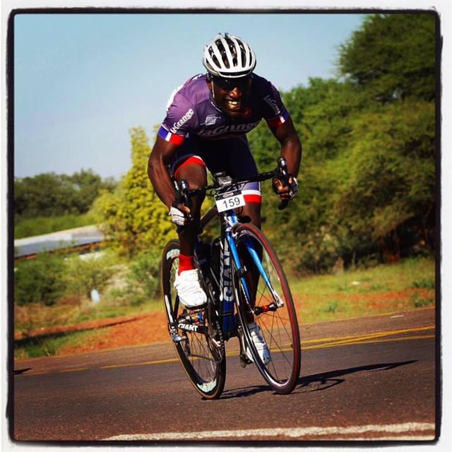Through  Kit Up Africa , La Grange kit finds its way all the way to Botswana on David Lebalelo of the Team Jonmol Cycling Club!