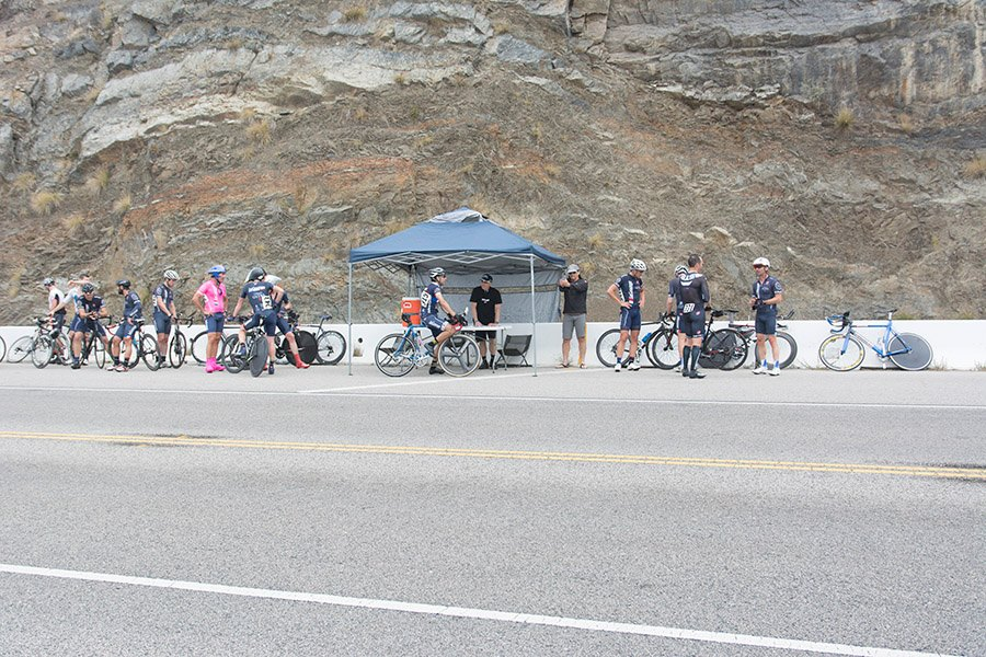 The finish line at the La Grange Cup PCH Time Trial. It was at the right spot this time!