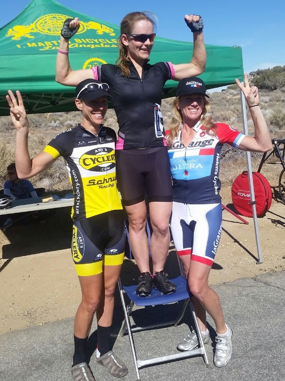 Tracy Paaso with a 2nd place finish at the Cat 3/4 UCLA Road Race.