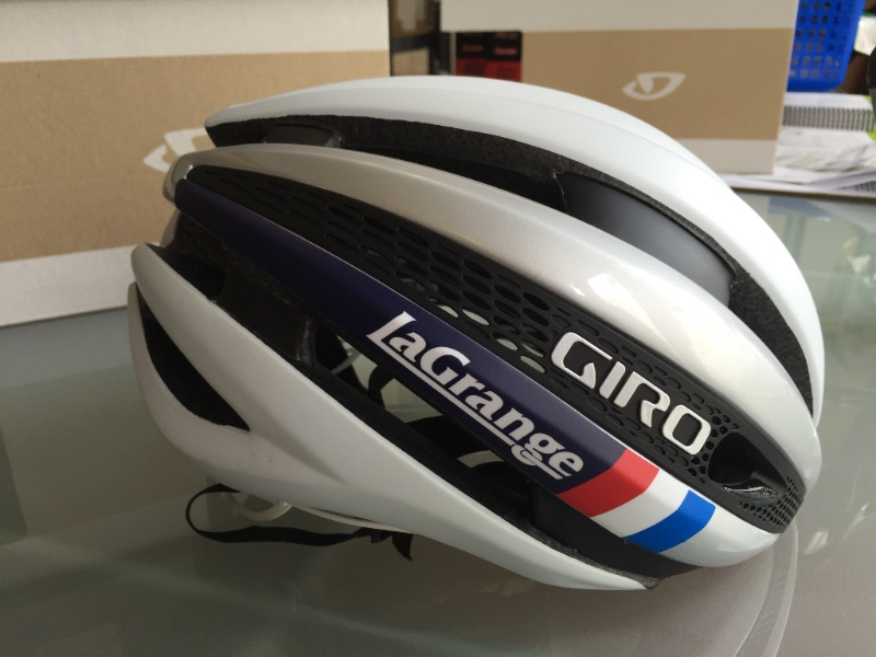 The white custom Synthe is a perfect match for our 2016 club and womens kits and is the official helmet of our men and womens race teams.