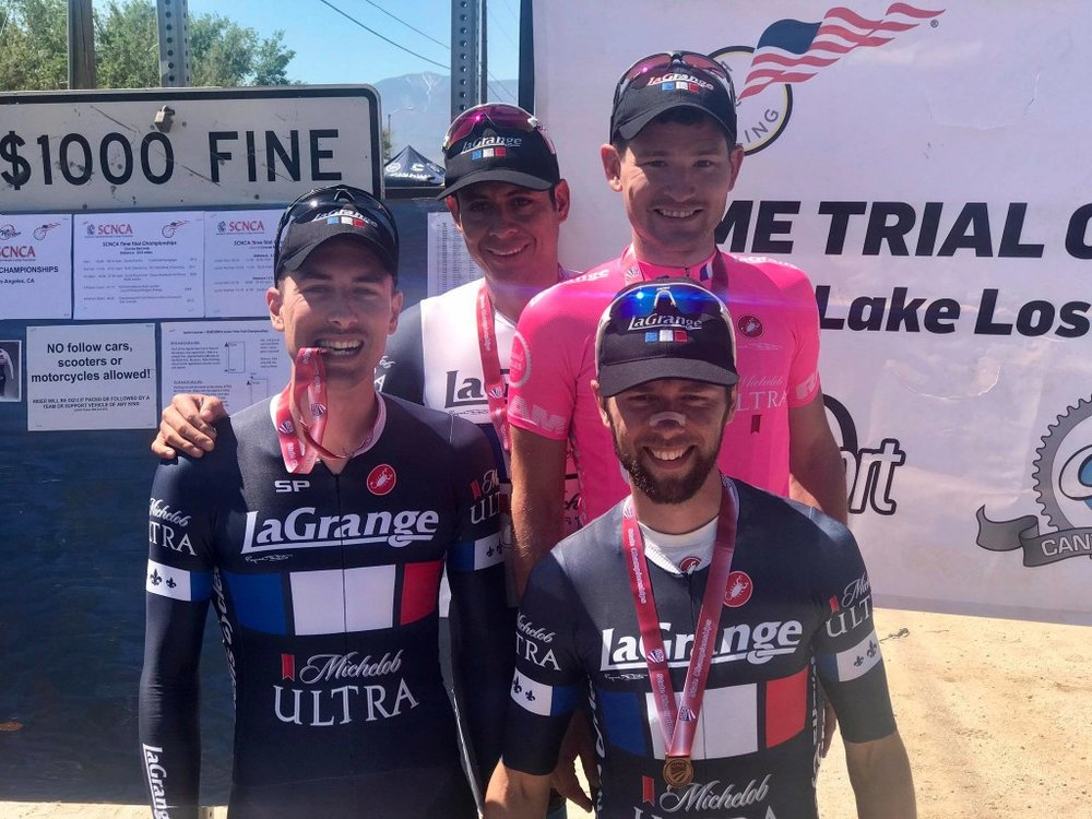 Thomas Rennier, Monty Zuniga, Zach LaBry and Matthieu Delcourt showed you don't need TT bikes to land on the podium at the State Championship.