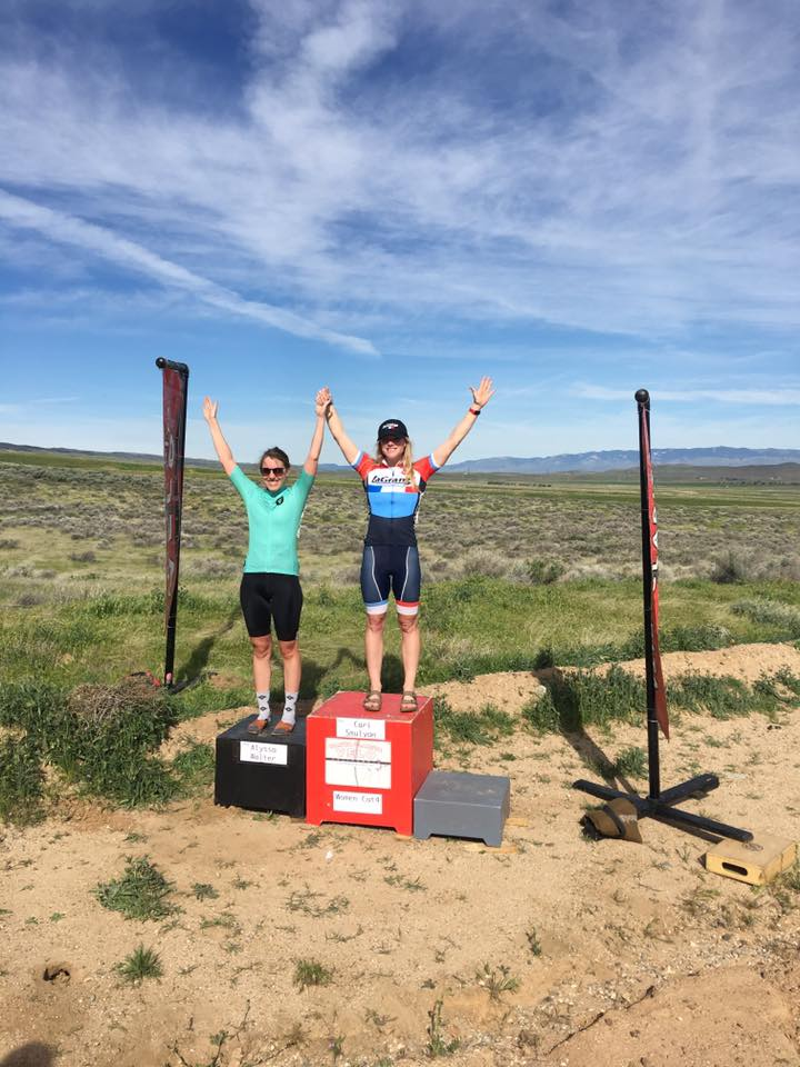 Cari Smulyan wins the Cat 4 Lake Elizabeth Road Race!