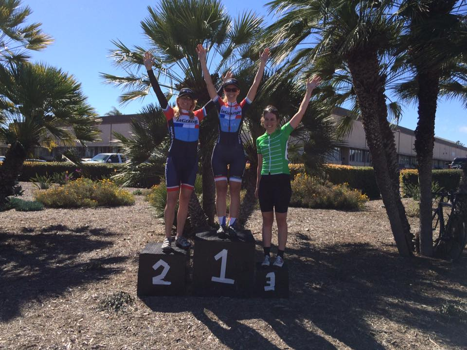 Ellen Shinogle and Tracy Paaso lap the field and go 1-2 at the Island View Criterium!