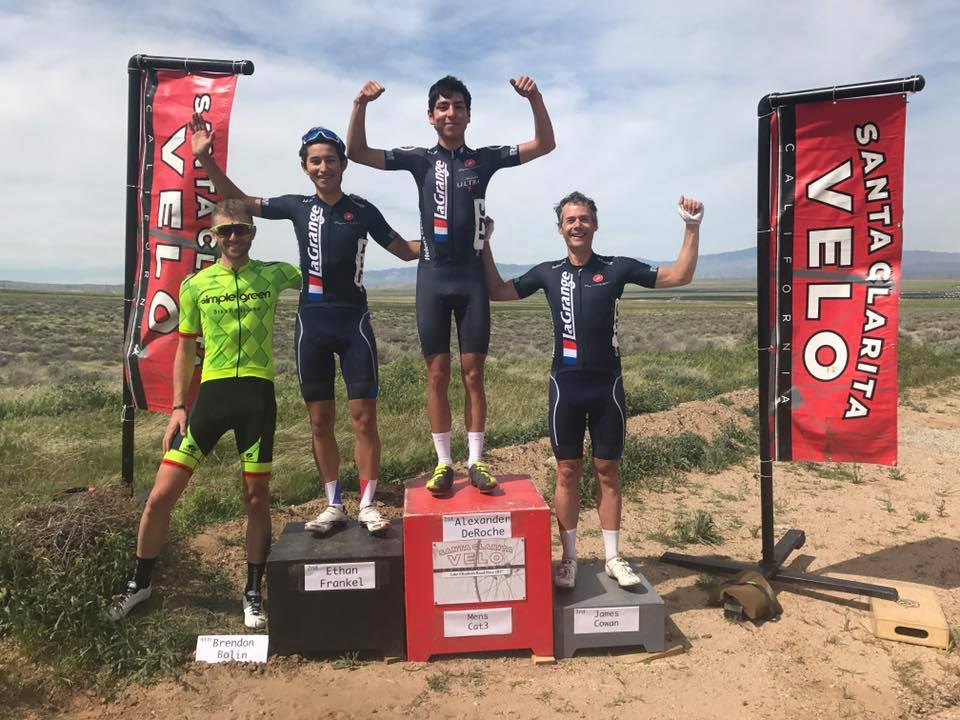 A podium sweep for the Mens Cat 3 Team!