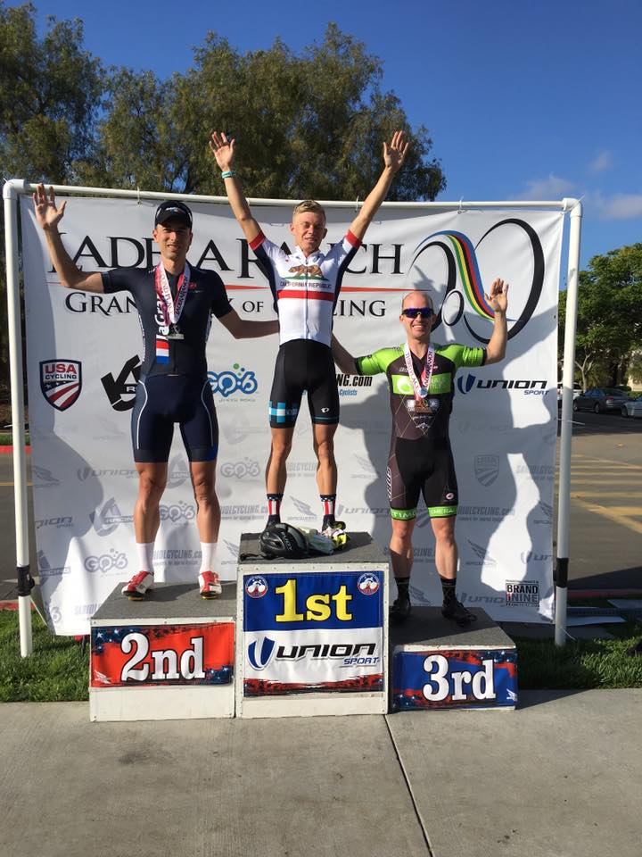 Thomas Rennier placed 2nd to professional triathlete Alexander Romanenko at the SCNCA Cat 3 Criterium Championship at Ladera Ranch.