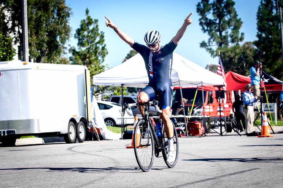 He's baaaack! Marco Fabrizio with the win in the Cat 3 CBR Criterium / La Grange BBQ Fest p/b Patrick Barrett Texas BBQ, LLC.