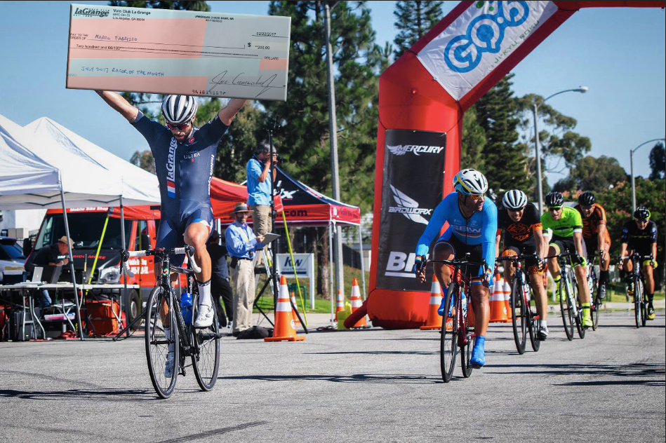 Marco Fabrizio got hot in July winning back-to-back Cat 3 races as the CBR Criterium and 805 Thousand Oaks Grand Prix, but we'll really be impressed if he can convince a bank to cash that giant check.