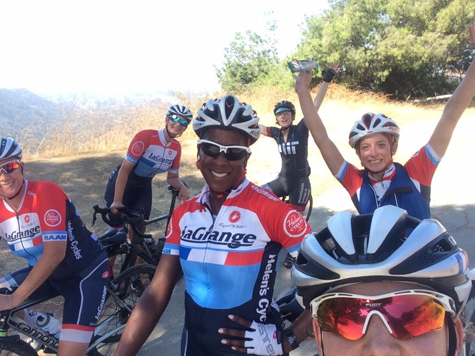 Womens Race Team ride around Griffith Park.