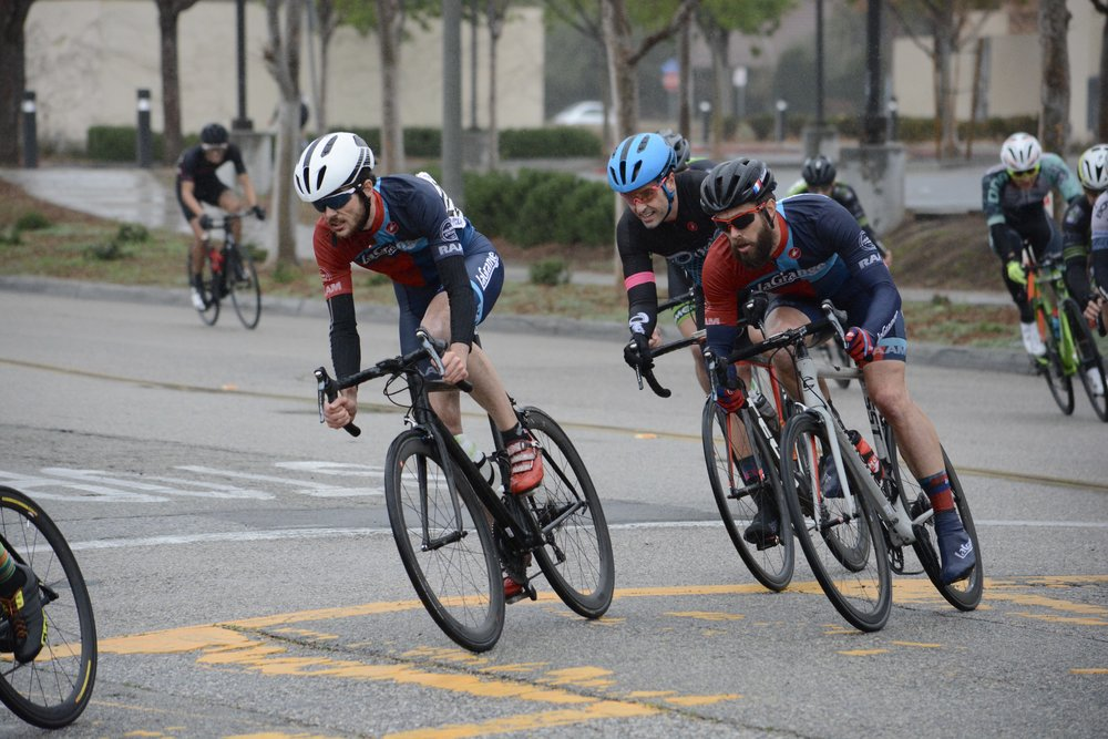 Duncan Clark working with teammate Patrick Barrett en route to capturing 1st place in the GC at the Tour of Murrieta Omnium