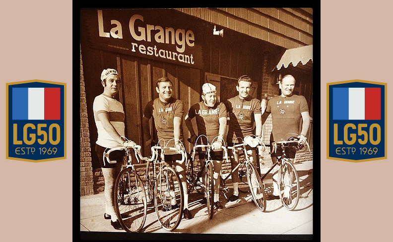 Raymond Fouquet, on the far right, founded Velo Club La Grange in 1969. He opened La Grange Restaurant in 1968.