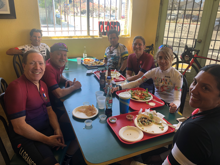 The 50 mile mark at Tacos Por Favor.