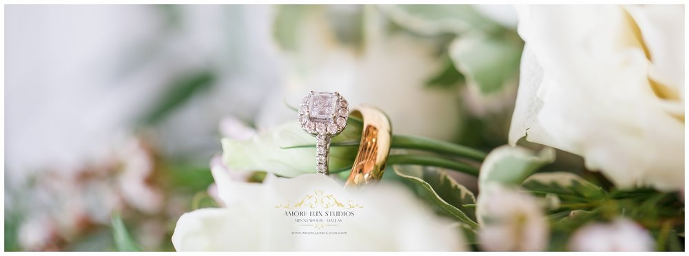 Alexis Engagement ring & Colton's Groom ring