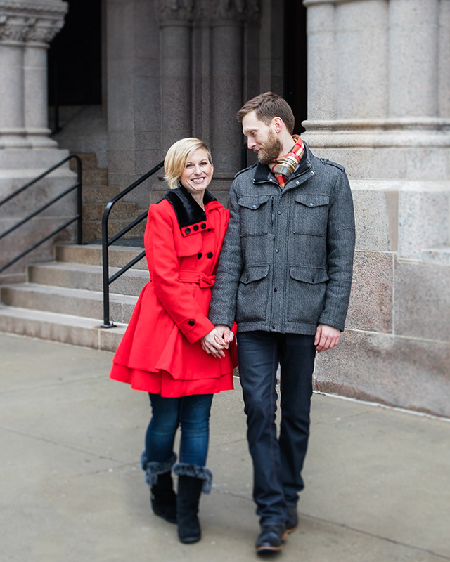 downtown st paul engagement session