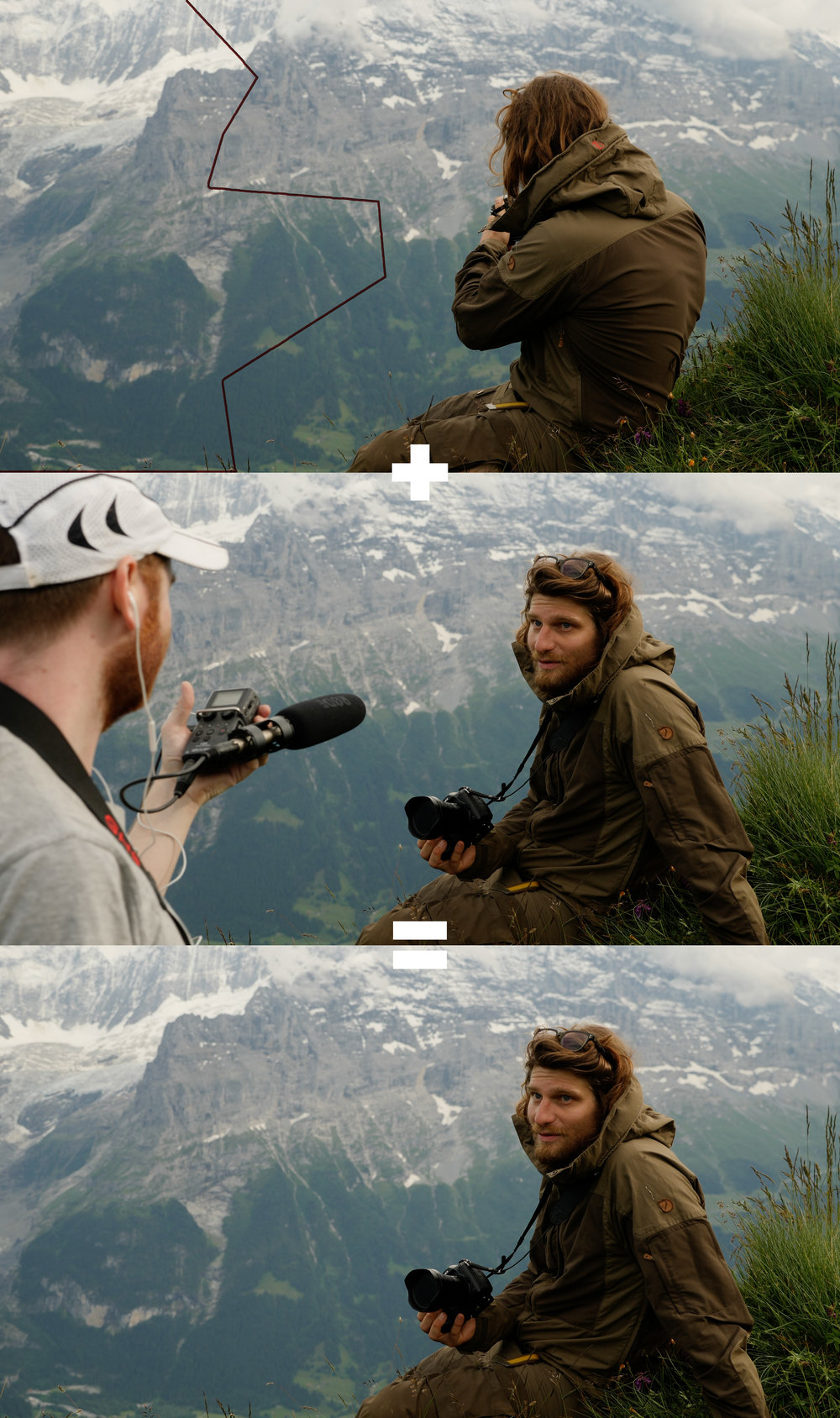 Interviewing Ben Grunow in Grindelwald, Switzerland.