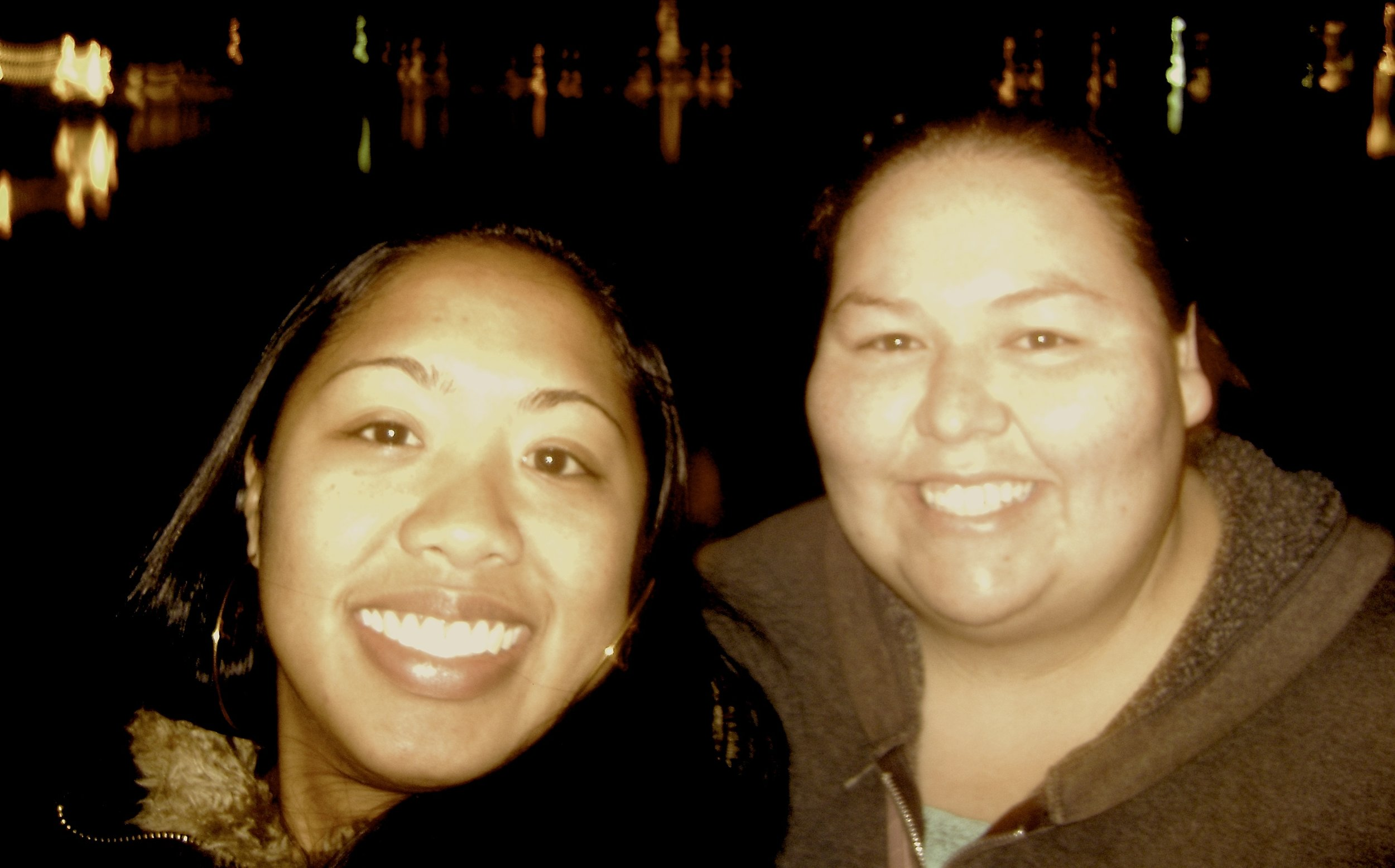 Amber and Raynelle, 2010. Our walk around Lake Merritt, Oakland, CA.