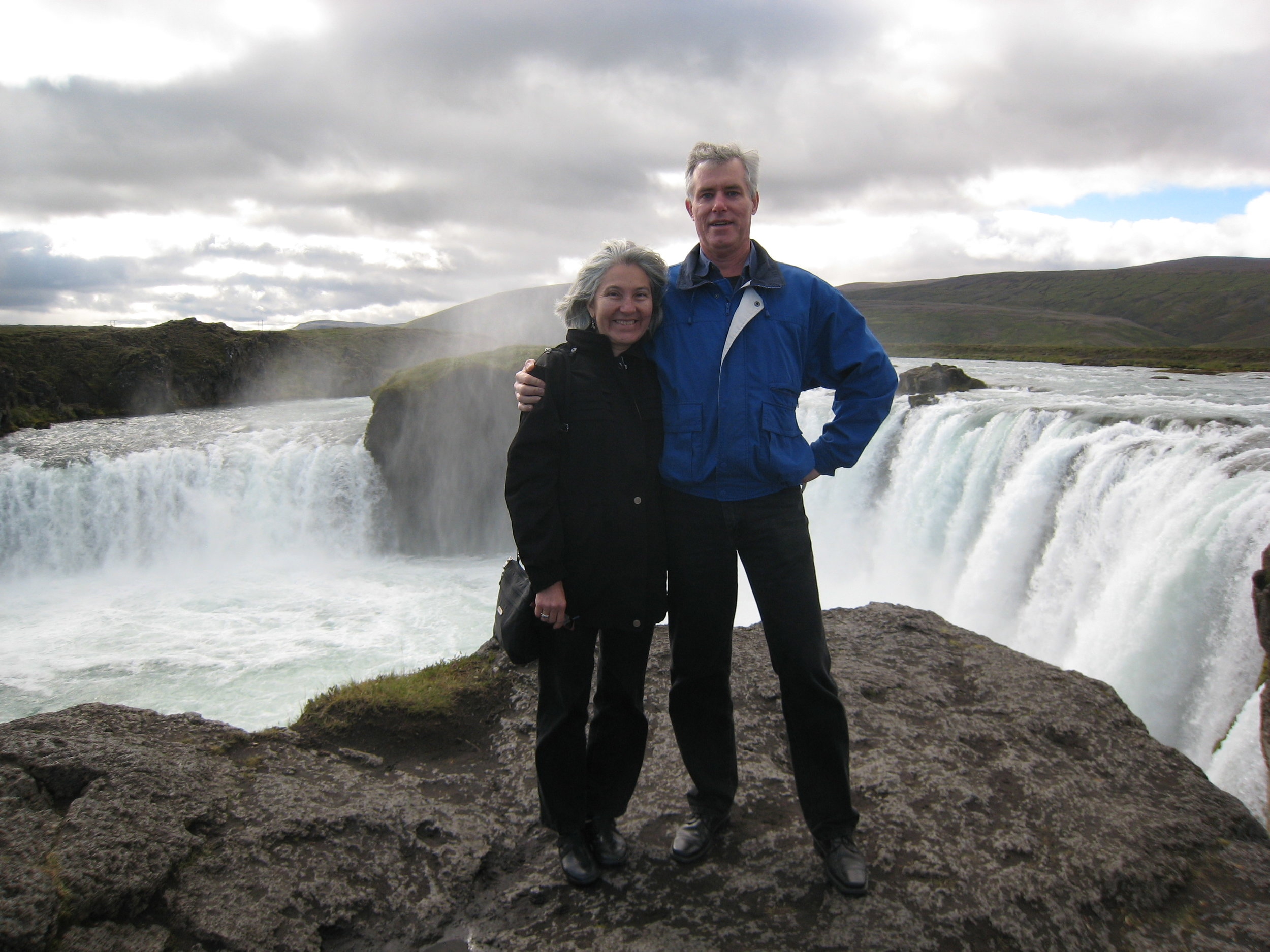 Sonia with partner, Alan. Iceland, 2010.