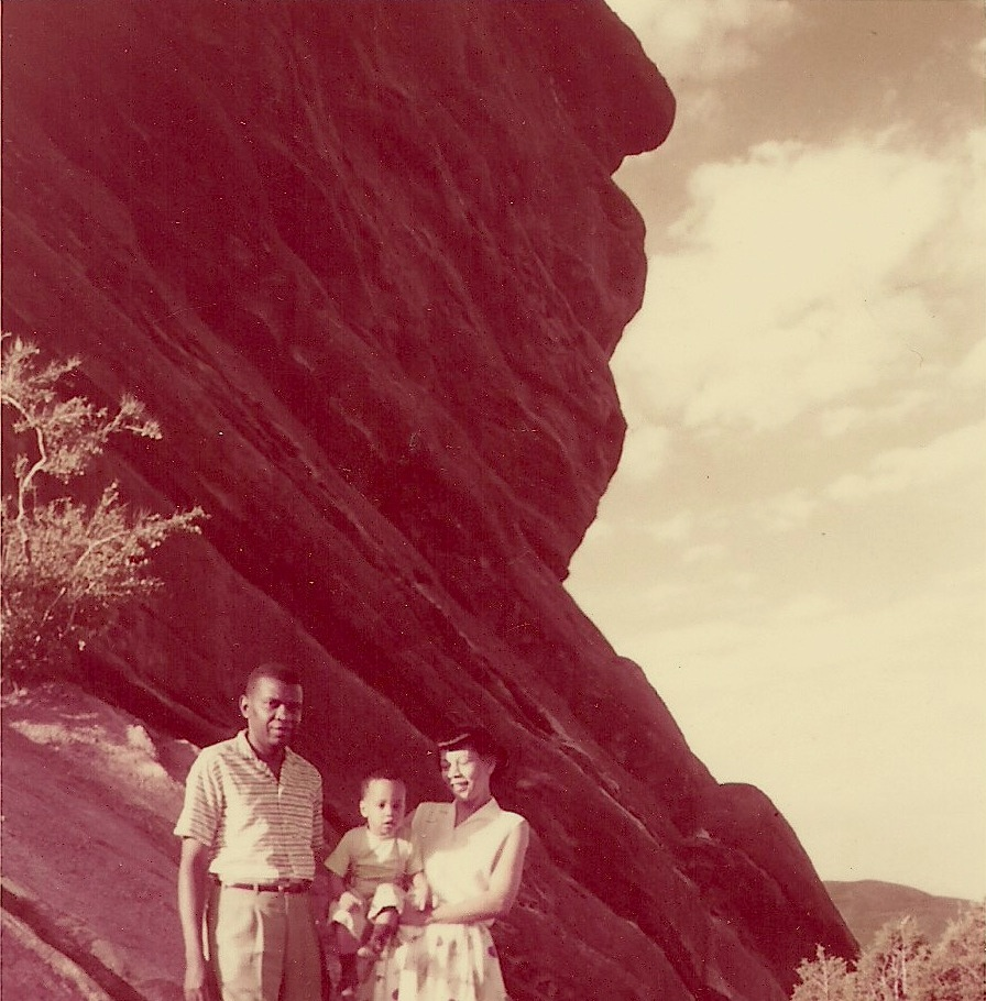 "Charlie with his parents probably 1957. ""Proof that I got my exposure to urban nature"""